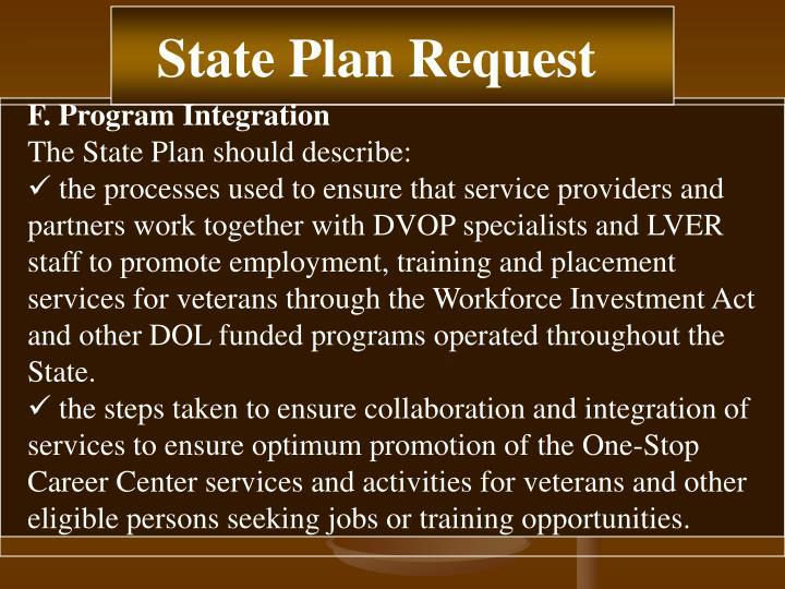 F. Program Integration