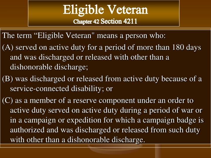 Eligible Veteran