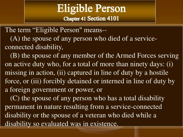 Eligible Person