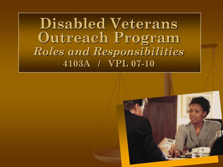 Disabled Veterans Outreach Program