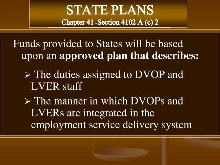 STATE PLANS