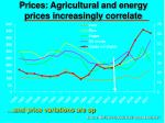 prices agricultural and energy prices increasingly correlate