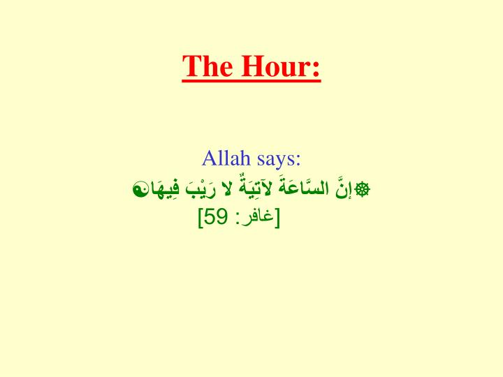The Hour: