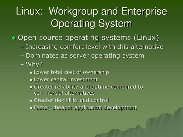 Linux:  Workgroup and Enterprise Operating System