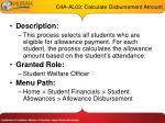 c4a al03 calculate disbursement amount