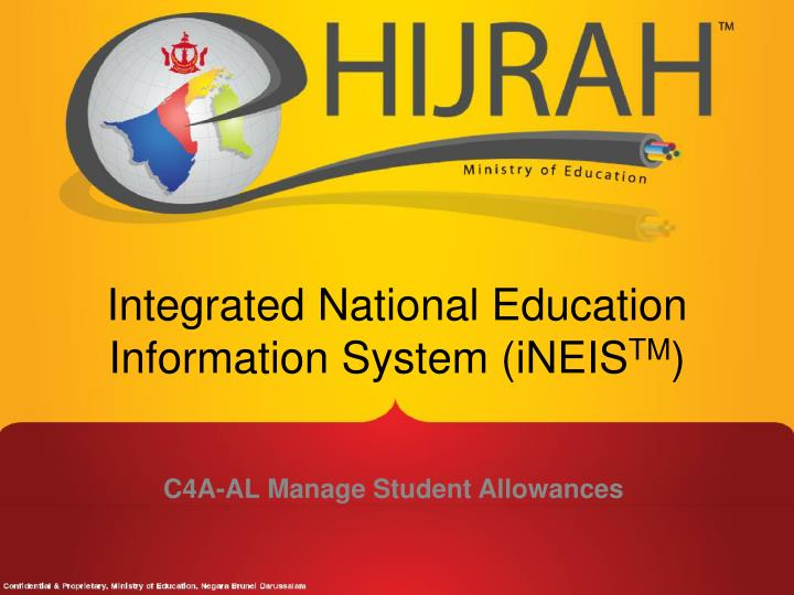 Integrated national education information system ineis tm