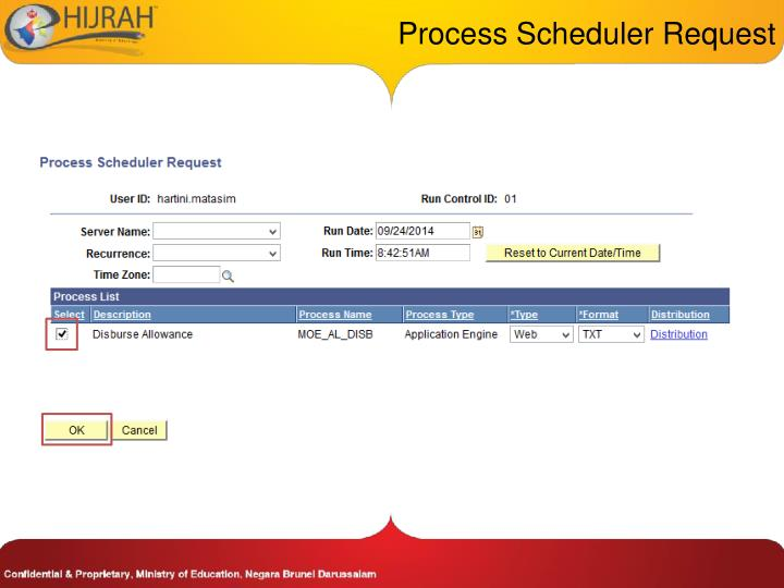 Process Scheduler Request