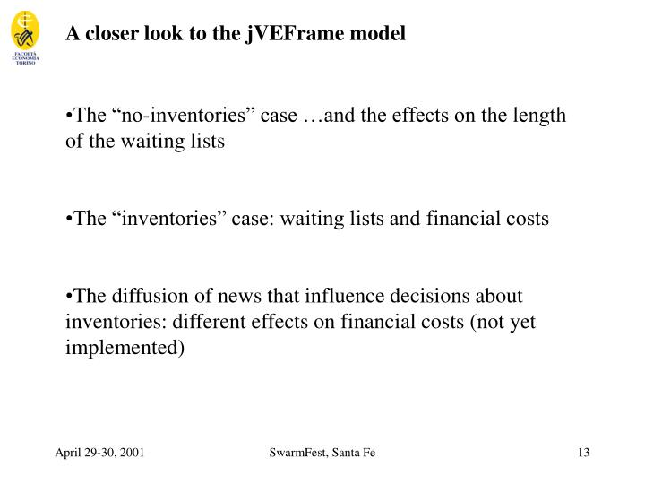 A closer look to the jVEFrame model