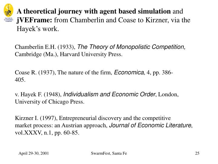 A theoretical journey with agent based simulation
