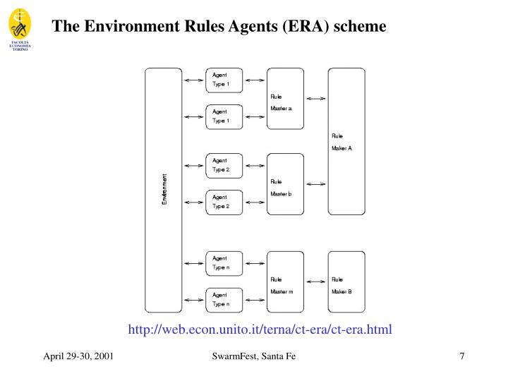 The Environment Rules Agents (ERA) scheme
