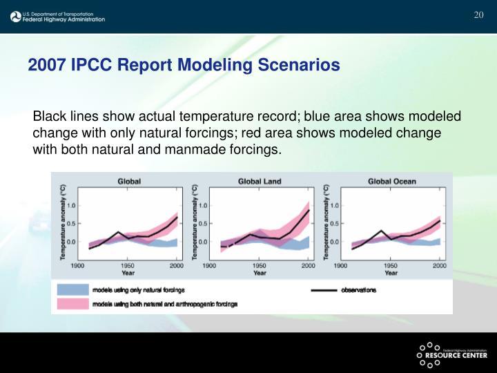 2007 IPCC Report Modeling Scenarios