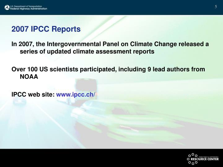 2007 IPCC Reports