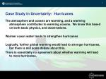 case study in uncertainty hurricanes