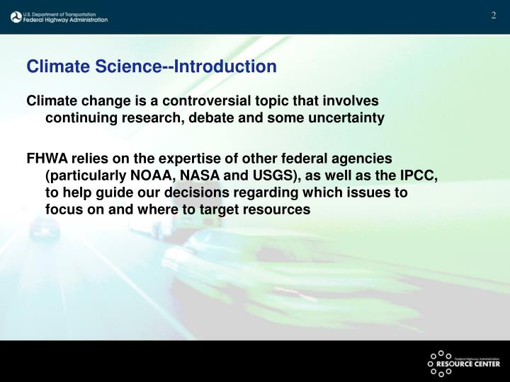 Climate Science--Introduction