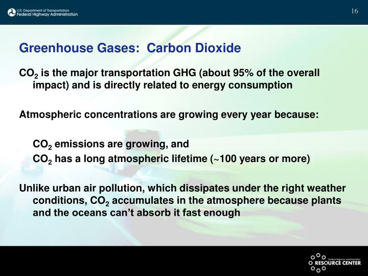 Greenhouse Gases:  Carbon Dioxide