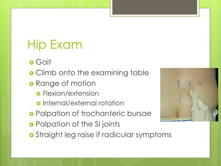 Hip Exam