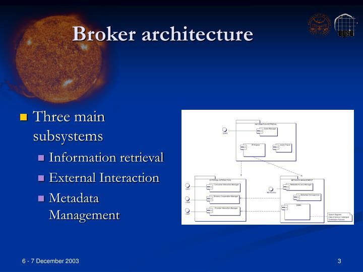 Broker architecture