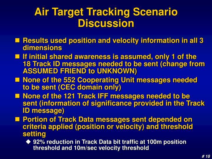 Air Target Tracking Scenario