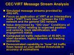 cec virt message stream analysis