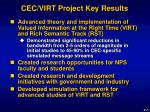 cec virt project key results