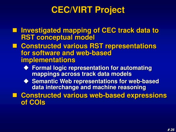 CEC/VIRT Project