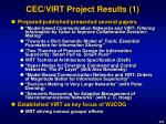cec virt project results 1