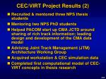 cec virt project results 2