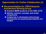 opportunities for further collaboration 2