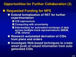 opportunities for further collaboration 3