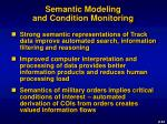semantic modeling and condition monitoring