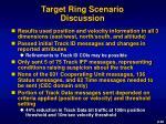 target ring scenario discussion