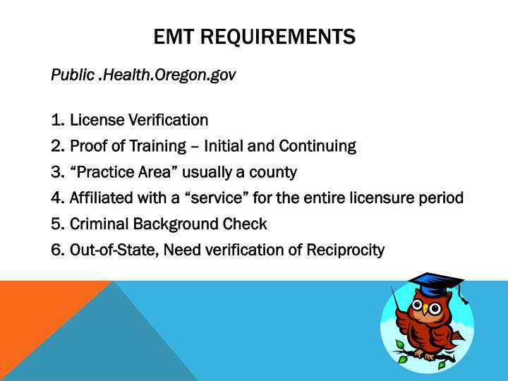 EMT Requirements