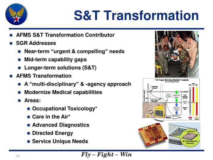 S&T Transformation