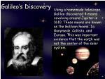 galileo s discovery