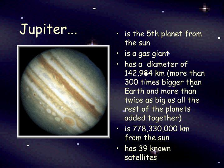 Jupiter...