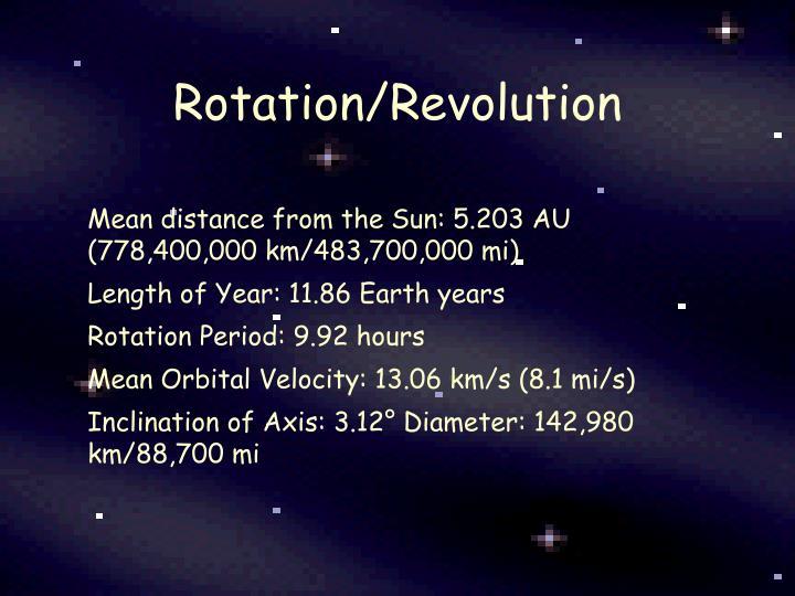 Rotation/Revolution