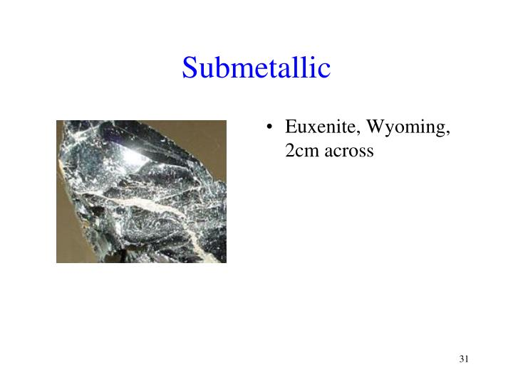 Submetallic