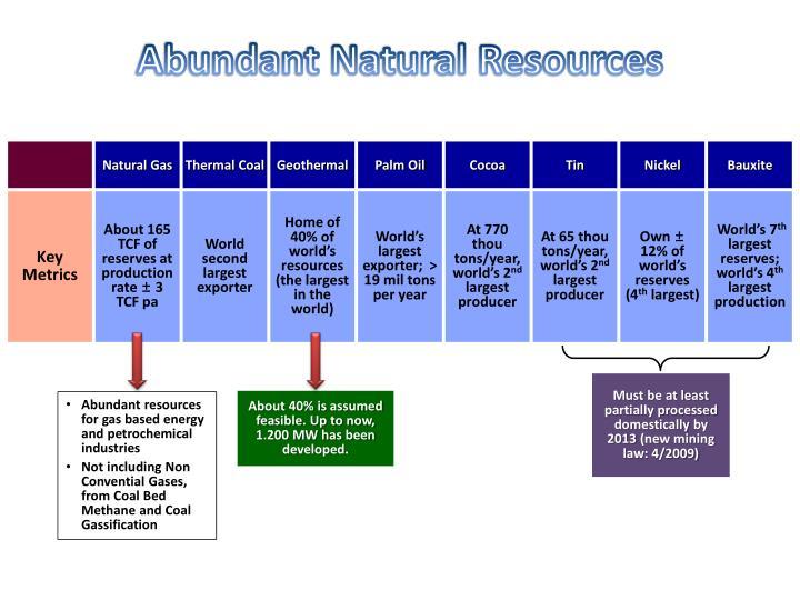 Abundant Natural Resources
