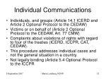 individual communications