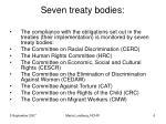seven treaty bodies