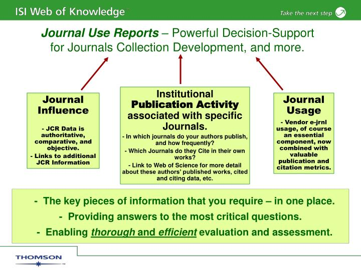 Journal Use Reports