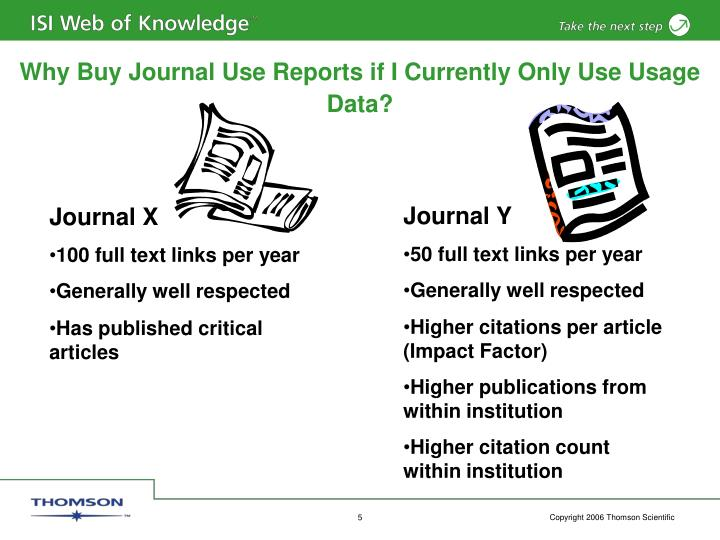 Why Buy Journal Use Reports if I Currently Only Use Usage Data?
