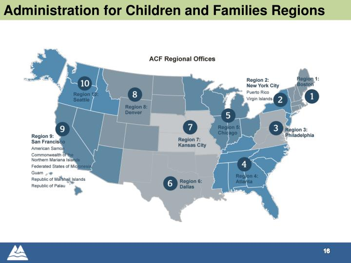 Administration for Children and Families Regions