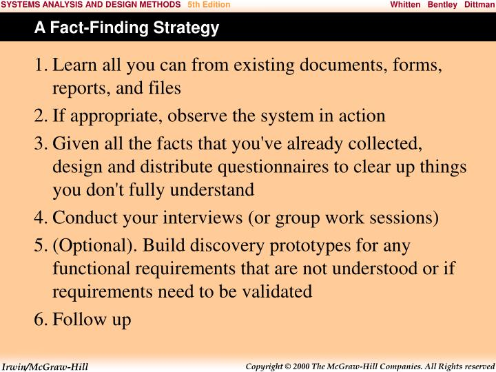 A Fact-Finding Strategy