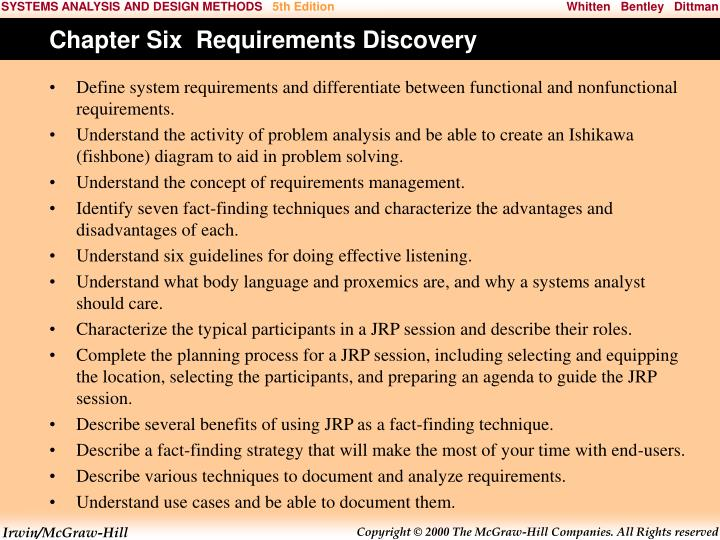 Chapter Six  Requirements Discovery