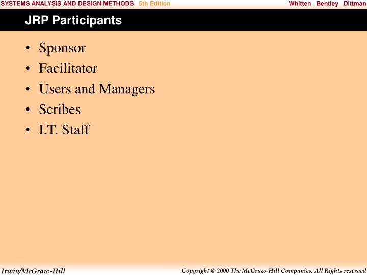 JRP Participants