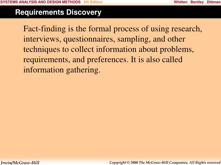 Requirements Discovery