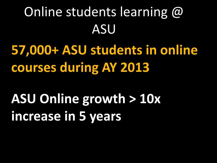 Online students learning @ ASU