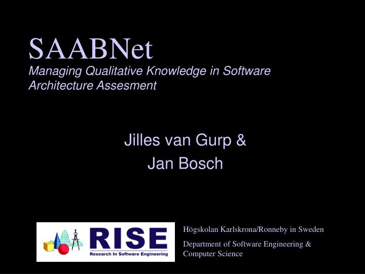 Managing qualitative knowledge in software architecture assesment