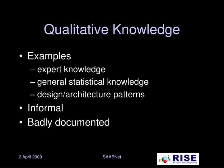 Qualitative Knowledge
